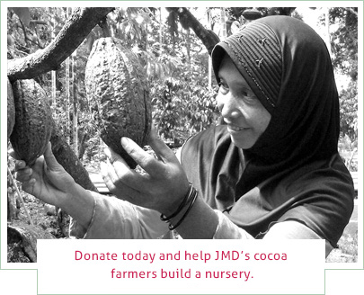 Donate today and help JMD's cocoa farmers build a nursery.